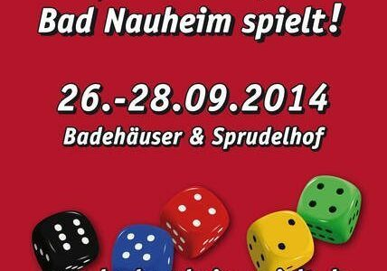 Plakat Bad Nauheim spielt! 26.-28.09.2014