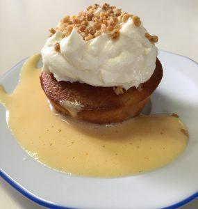 Bild Apfelküchlein mit Frischkäsetopping