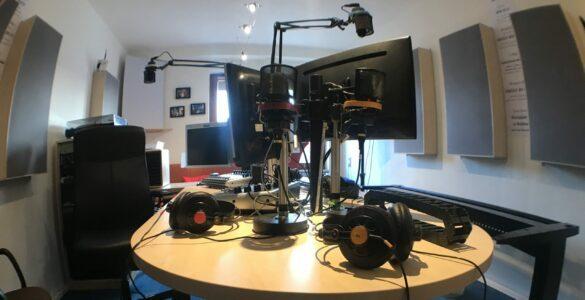 Leeres Radio WeWeWe Studio